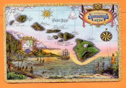 MAX-26  Map Of Old Hawai. Original Engraving By Steve Strickland. Not Used. - Etats-Unis