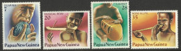 PAPUA NEW GUINEA 1979 MUSICAL INSTRUMENTS SET MNH - Papua New Guinea