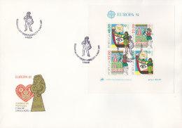 EUROPA CEPT:  PORTUGAL BLOCK 32, FDC, Folklore, 1981 - Europa-CEPT