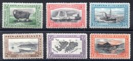 FALKLAND - YT N° 59 à 64 - Neufs * - MH  - Cote: 70,00 € - Falkland Islands