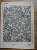 GRAND PHOTO VUE AERIENNE 66 Cm X 48 Cm De 1979 LESSINES OGY - Cartes Topographiques