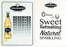 Strongbow Apple Ciders. Reserved. 2/3 Strongbow - 1/3 Ice. Sweet. Refreshing. Natural. Sparkling. Great-Britain. England - Sous-bocks