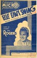 PARTITION 40-60 ELLE ÉTAIT SWING LOUIS GASTÉ ROGERS 1942 ILL ABRIOUX - Música & Instrumentos