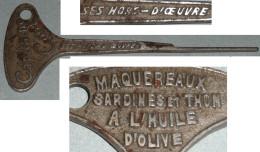 Rare Ancien Ouvre-boite De Conserve, Sardines à L'huile, Thon, Capitaine COOK - Autres