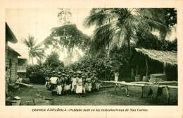 GUINEA ESPAÑOLA. POBLADO BUBI EN LAS INMEDIACIONES DE SAN CARLOS - Guinea Ecuatorial