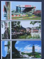 Postcards - China - Shanghai - Car Race Circuit - Bridge - Temple - Tourist Center - China