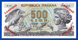 Italy 500 Lire Aretusa Campione Specimen Raro Pick #93 QFds / Unc- - [ 2] 1946-… : Repubblica
