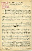 PARTITION CHANT CHOEUR 2 VOIX LE PRINTEMPS FRANZ SCHUBERT POMEY VIARDOT 1873? - Classical