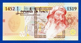 SecuraMonde SMI Leonardo Da Vinci 1519 Specimen Essay Note - Fds / Unc - Specimen