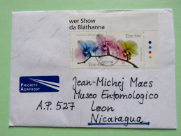 Ireland 2015 Cover To Nicaragua - World Flower Show - Covers & Documents