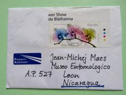 Ireland 2015 Cover To Nicaragua - World Flower Show - 1949-... Repubblica D'Irlanda