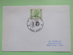 Belgium 1971 Special Cancel On Card - King - Gift In England Flag - Belgium