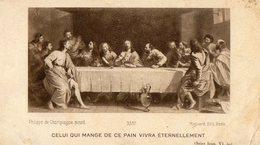 """IMAGE PIEUSE """"Celui Qui Mange Ce Pain Vivra éternellement"""" Philippe De Champaigne Ed Mignard - Devotion Images"""