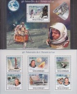Mozambique 2009 40 Anniversary Of Apollo-13 Landing On Moon  Two MS Imperforated