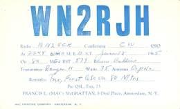Amateur Radio QSL - WN2RJH - Amsterdam, NY -USA- 1965 - Radio Amateur