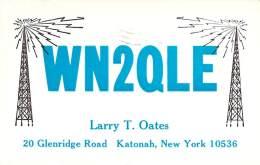 Amateur Radio QSL - WN2QLE - Katonah, NY -USA- 1965 - 2 Scans - Radio Amateur