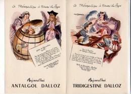 """Publicité Pharmaceutique / Laboratoires Hépatoum Et Trialgol """"La Thérapeutique à Travers Les Âges  Dessin Van Rompaey - Publicités"""