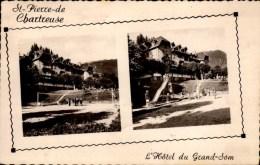 38-ST-PIERRE DE CHARTREUSE..L'HOTEL DU GRAND SAM..2 VUES...CPSM PETIT FORMAT - Autres Communes