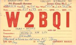 Amateur Radio QSL - W2BQI - Valley Stream, NY -USA- 1965 - 2 Scans - Radio Amateur