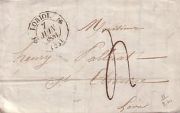 DROME - LORIOL - T12 LE 7 JUIN 1841 - AVEC TEXTE - TAXE 4. - Marcophilie (Lettres)