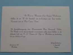 Huwelijk Fernande SOMERS / OWEN Victor Inwood Malines / Itegem ( 't Seyenhof ) 14 Mei 1964 ( Zie Foto´s Voor Detail ) ! - Mariage