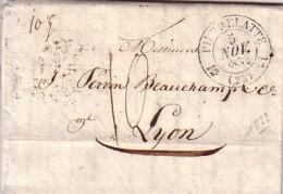 DROME - PIERRELATTE - T12 LE 5 NOVEMBRE 1832 - TAXE 10 MANUSCRITE POUR PARIS - AVEC LONG TEXTE. - Marcophilie (Lettres)