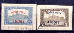 Ungheria-00058 - 1918: Posta Aerea, Y&T N. 1, 2 (o) Used - Privo Di Difetti Occulti - Posta Aerea