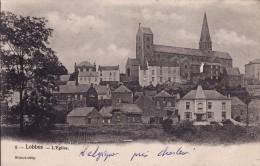 LOBBES -- L' Eglise + Le Village ( Dos NON Divisé ) - Lobbes