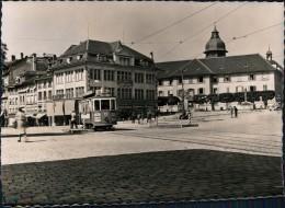 Freiburg Im Üechtland Fribourg Place Georges Python Mit Straßenbahn 1965 - FR Fribourg