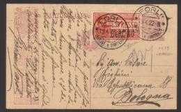 6409-Cartolina Postale Pubblicitaria Advertising Postal Stationery Filagrano R4A 9 + Espresso C.60 Su 50 Usata – Firmata - 1900-44 Vittorio Emanuele III