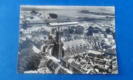 59 DENAIN 1956 - EN AVION AU-DESSUS DE...DENAIN - édit: MAGE N° 2, Eglise St-Joseph, Quartier Gare Du Nord - Denain