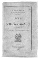 L'église De VILLERS-SOUS-AILLY.Souvenir De La Fête Du 25 Septembre 1890.A.MORTIER.164 Pages.1891.broché. - Picardie - Nord-Pas-de-Calais