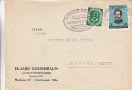 République Fédérale - Devant De Lettre Années 50 - Oblitération Train Hannover Hamburg - - BRD