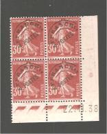 C D 30c  61  Semeuse 30 C  Rouge Sombre   22.11.38 - Esquina Con Fecha