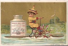CHROMO LIEBIG ENFANT BATEAU A ROUE EDITION VALLET MINOT - Liebig