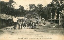 /! 4250 - CPA/CPSM - Congo Francais : Chef Missanga Et Sa Famille (N'Goko) 1904 - Congo Francés - Otros