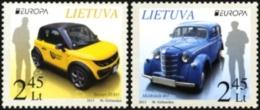 LITHUANIA LITUANIE 2013 EUROPA POSTAL VEHICLES - 2013