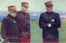 5001. CPA GUERRE 14 18 WW1. GENERAUX CASTELNAU JOFFRE PAU - Personnages