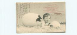 Les Oeufs De   Pâques  -   Bébé Sort De L 'oeuf           K738 - Pâques