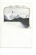 15041 - Petite Aquarelle  Descente Du Faulhorn Lac De Bachalp Avec Finsteraarhorn (format 13 X 9) - Aquarelles