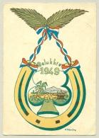 Nederlands Indië - 1948 - Veldpost Semarang Op Portvrij Nieuwjaarskaart Naar Kampen/ Nederland - Netherlands Indies