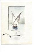 15053 - Petite Aquarelle Barque Du Léman  (format 13 X 9) - Aquarelles