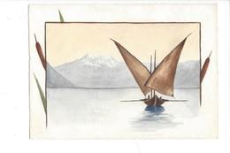 15054 - Petite Aquarelle Barque Du Léman  (format 13 X 9) - Aquarelles