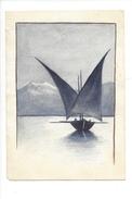 15055 - Petite Aquarelle Barque Du Léman  (format 13 X 9)  Attention Petite Déchirure Bord Côté Gauche - Aquarelles