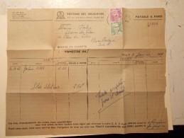 Marcophilie  Cachet Lettre Obliteration Timbre  - PARIS - 1949 (708) - Lettres & Documents