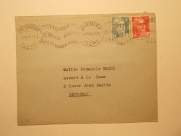 Marcophilie  Cachet Lettre Obliteration Timbre  - GRENOBLE - 1948 (709) - Lettres & Documents