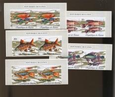 1971 GUINEE  2 Séries Non Dent Poissons 12 Valeurs  Cote Michel 38E En Dentelé - Fishes