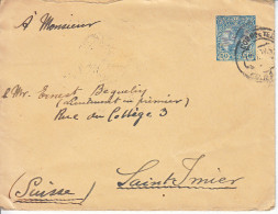 ENTIER POUR LA SUISSE - SAINT IMIER - 1910 - Postal Stationery