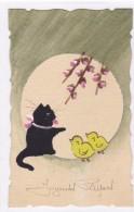 Animaux - Chats - Joyeuses Pâques - Gatos