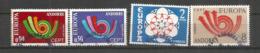 ANDORRA/ANDORRE. Double émission Europa 1973. Postes Andorranes Espagnole & Française. Oblitérés 1 ère Qualité